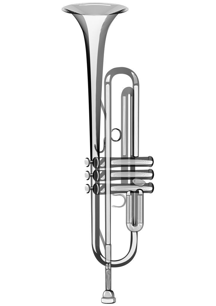 Trumpet constructed from illustrator