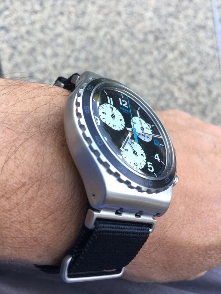 Swatch Skybond On A Black NATO Strap Pretty Cool Right
