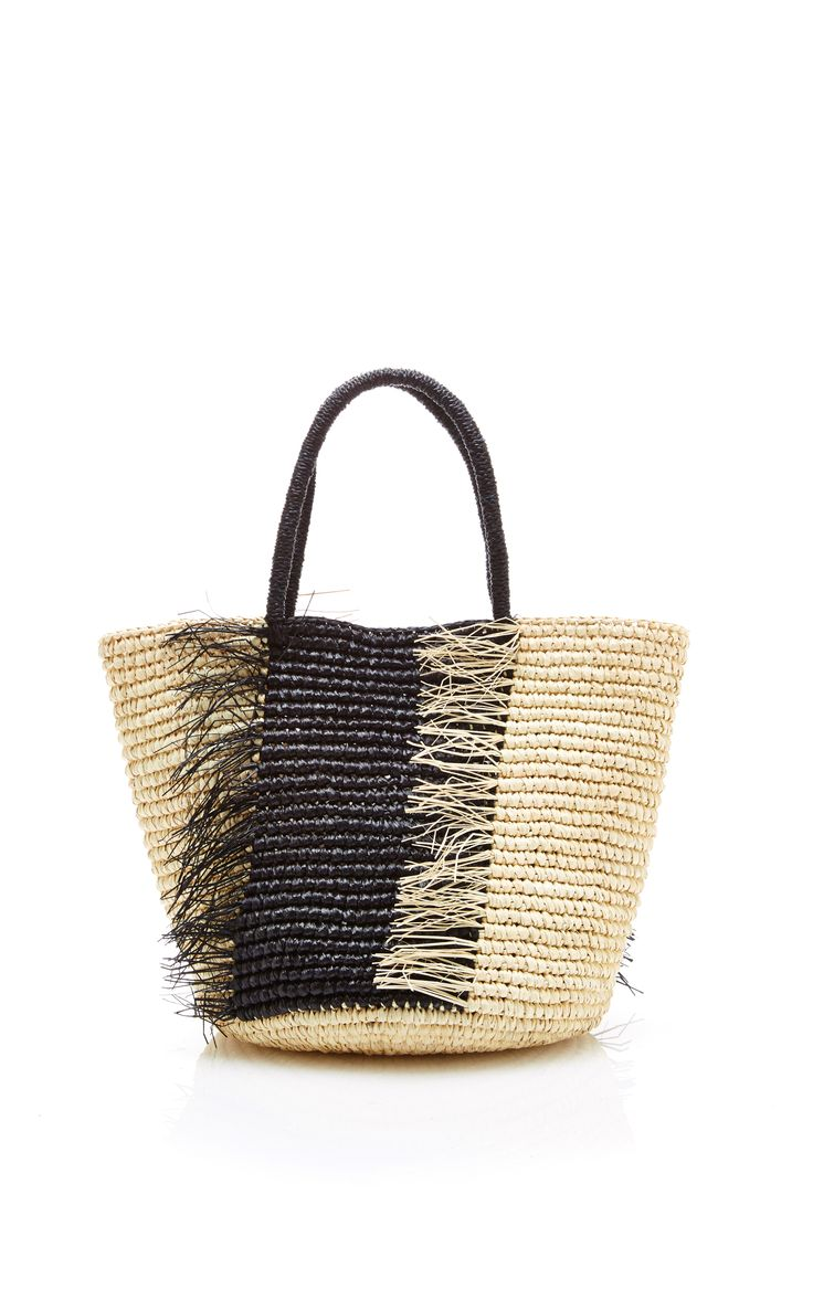 Medium Frayed Straw Tote by Sensi Studio - Moda Operandi