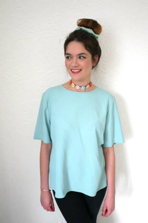 mint coloured top £9