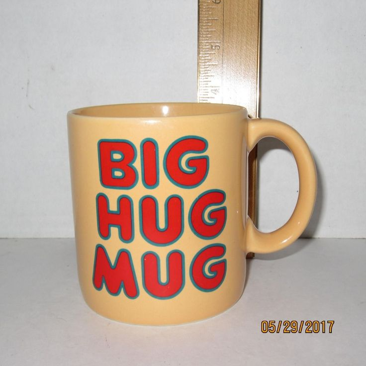 "Big Hug Mug 12 Oz 3.5"" Tall Coffee Mug Cup Especially For You Made In Korea"