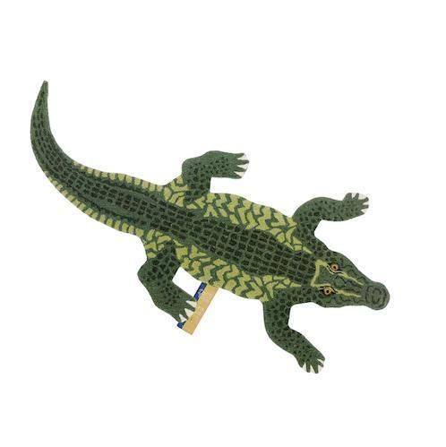 Doing Goods Coolio Crocodile Rug In 2020 Crocodile Animal Rug Hand Tufted Rugs