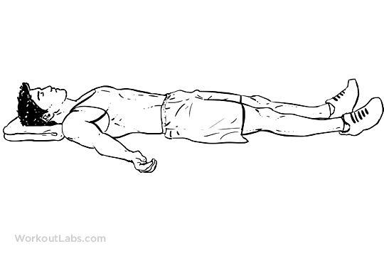 Supine Lying Down Position / Corpse Pose