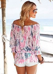 Multi-Coloured Smocked Top by Buffalo London