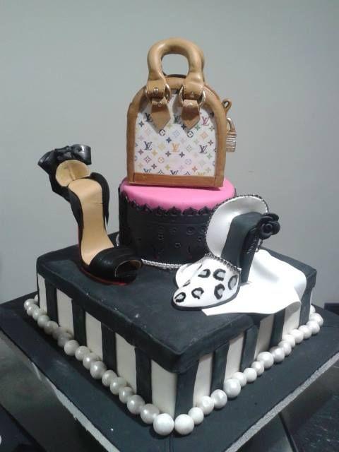 Torta de una hermosa Cartera y zapatos. Me encanta!