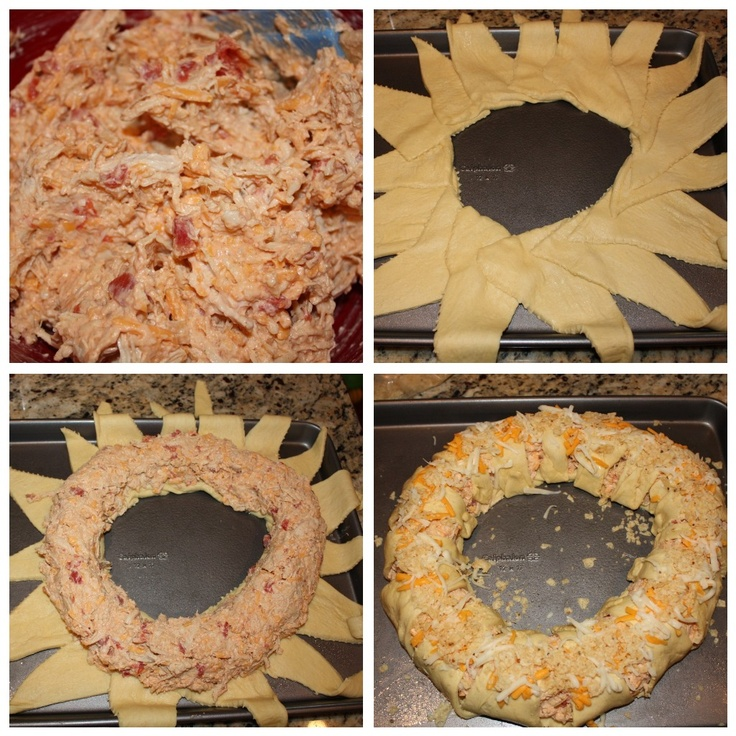 Just like the Pampered Chef chicken ring but with a Mexican twist! :) YUMMMM