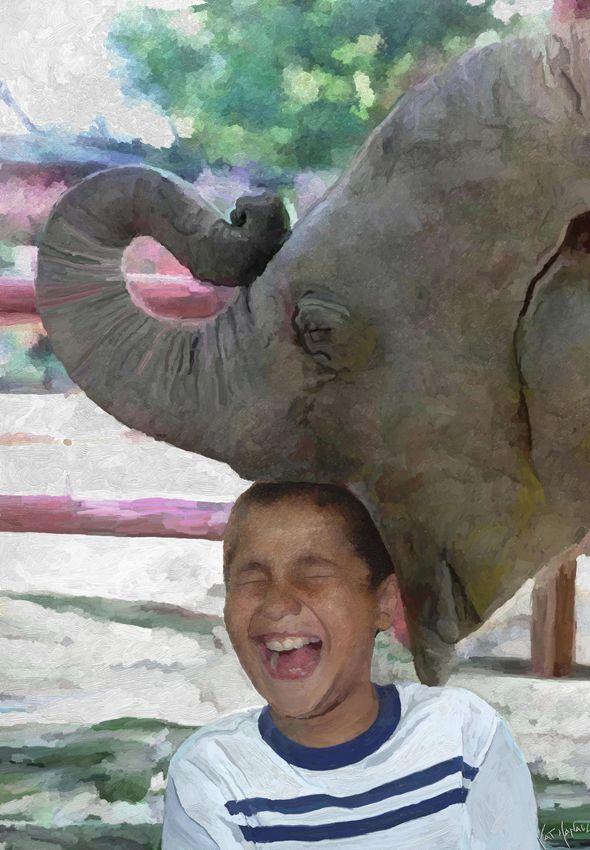 Surrealism-Sancho y el elefante