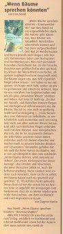 """Buchbesprechung: Erschienen in """"Laupheim Aktuell"""" Ausgabe November 2013 """"Wenn Bäume sprechen könnten"""" von Ines Nandi"""