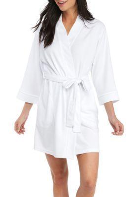 New Directions Women's Kimono Robe - White - Xl