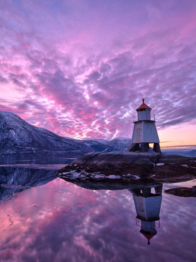 Lighthouse Sunset, Norway