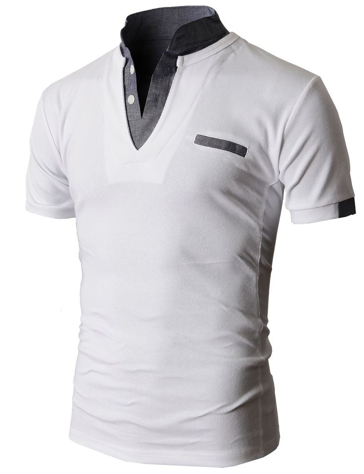 $28.99 Doublju Men's Unique Hybrid Fashion Polo Shirts with Short Sleeve (KMTTS0100)