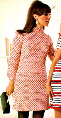 Lots of free vintage / retro knit patterns - mostly dresses