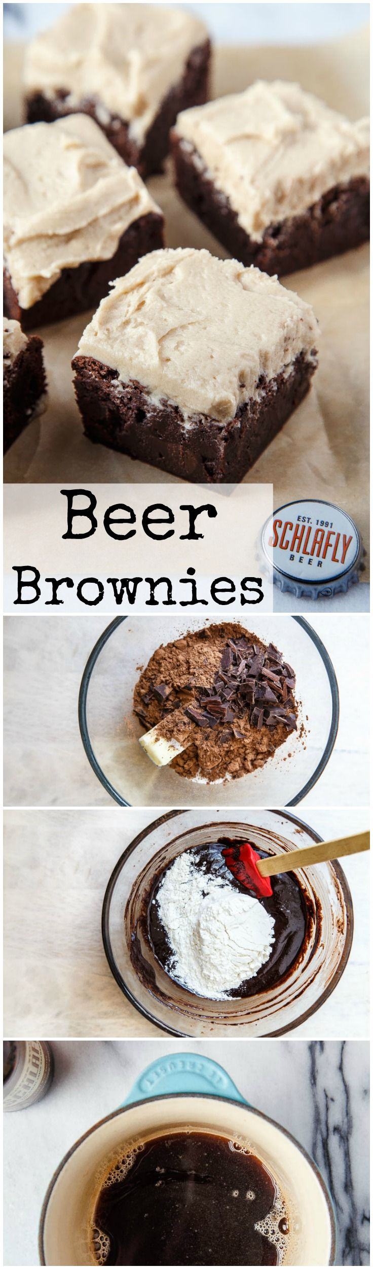 Your man wants beer brownies for Valentine's Day dessert for two. Awesome made with coffee or oatmeal stout. Brownies for two! @dessertfortwo