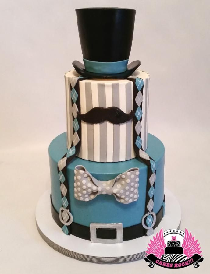 Little Gentleman First Birthday by Cakes ROCK!!!