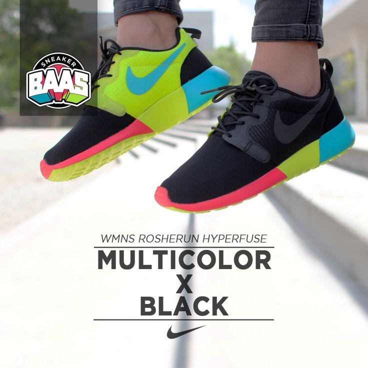 """Nike Wmns Rosherun Hyperfuse """"Multicolor x Black""""   Zomerschoen!   http://bit.ly/1iBaAog   #BAASBOVENBAAS #NIKE #ROSHERON #MULTICOLOR   642233-001"""