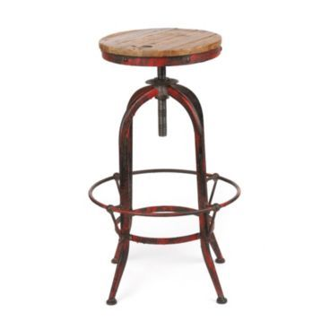 Industrial Red Bar Stool  sc 1 st  Pinterest : red industrial stool - islam-shia.org