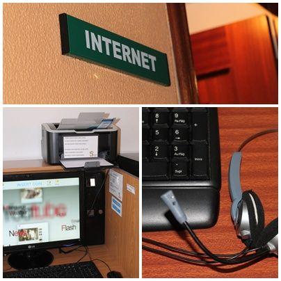 WIFI gratuíto en todas las habitaciones tanto de hotel como de albergue. Además sala de internet con impresora. www.hotelalberguelasalle.com