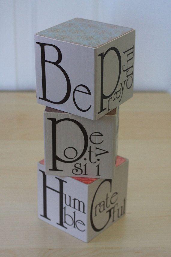 """""""Be"""" blocks vinyl lettering"""