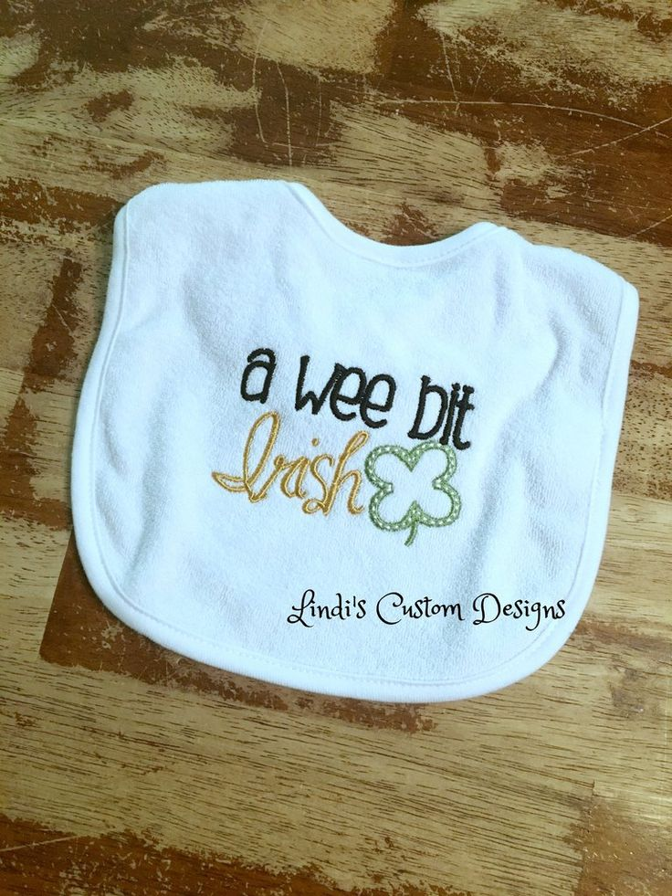 A Wee Bit Irish Embroidered Baby Bib