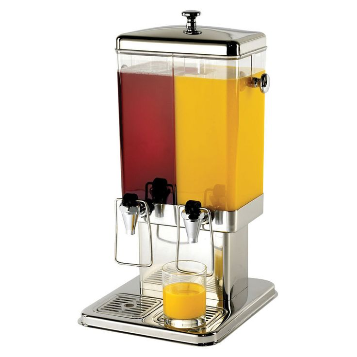 "336 Tablecraft 70 Dual Cold Beverage / Juice Dispenser - 3 Gallons  Depth: 11 1/2""  Width: 13 1/2""  Height: 22 3/4"""
