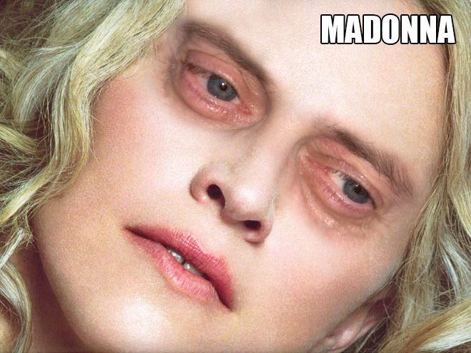 Famous Women With #SteveBuscemi Eyes #Madonna. ''All the boys think she's a spy - she's got - Steve Buscemi eyes...''