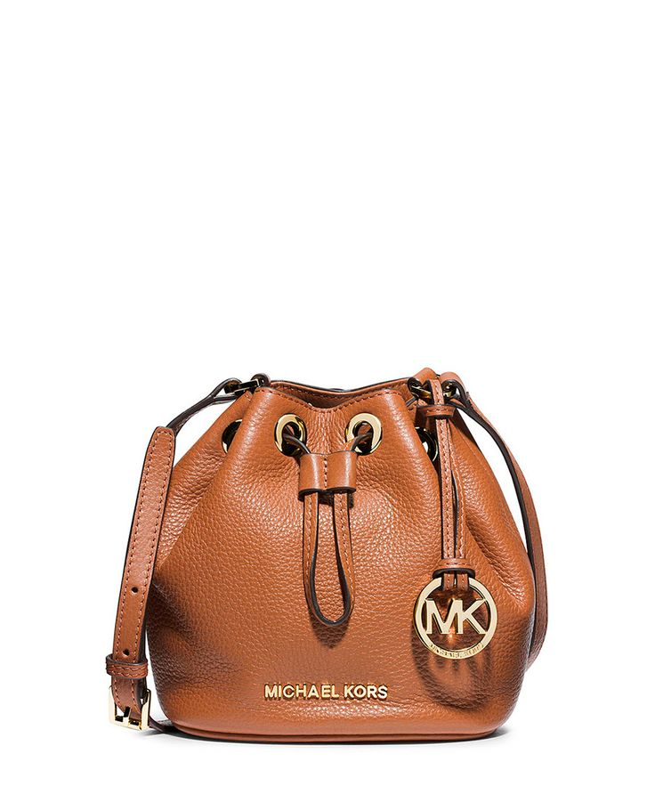 Jules tan leather cross body bag by Michael Kors on secretsales.com