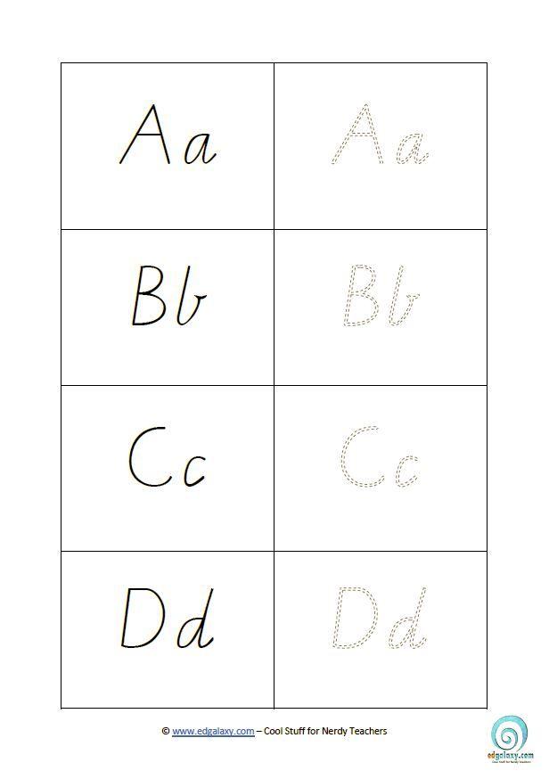 Printable Victorian Modern Cursive Handwriting Templates — Edgalaxy