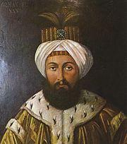 Osman III. Osman III. (2. či 3. ledna 1699 - 30. října 1757) – byl sultánem Osmanské říše v letech 1754 –1757.  Většinu svého života prožil v domácím vězení v paláci Topkapi, což asi zapříčinilo jeho podivínské chování během jeho krátké doby vládnutí. Údajně nenáviděl hudbu a zakázal ji v paláci Topkapi. Rovněž se jako sultán vyznačoval netolerancí vůči neislámským obyvatelům (křesťanům a židům), nutil je nosit zvláštní znaky na oblečení, aby se odlišovali od islámské většiny.