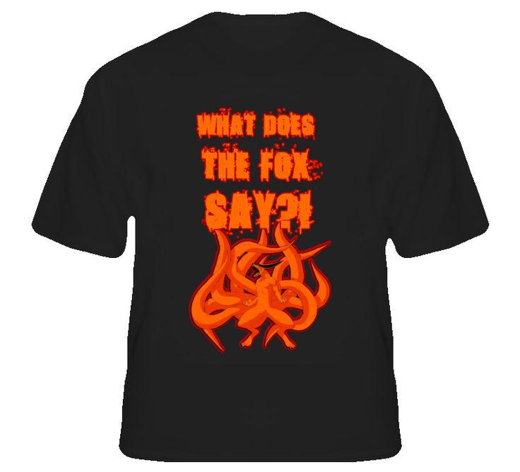 What Did The Fox Say Naruto T Shirt