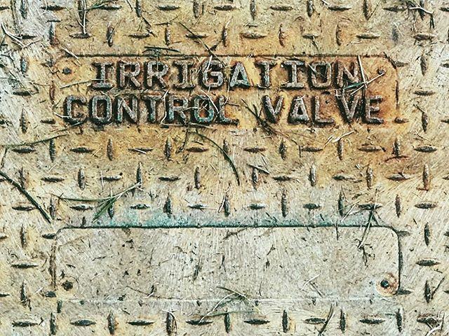 IRRIGATION CONTROL VALVE! ------ #typosnaps #typography #font #typo #letter #typeface #sewercover #letters #type #design #graphics #graphicdesign #logo #creative #writing #studio #interface #text #dailytype #lettering #print #production #art #iphonography