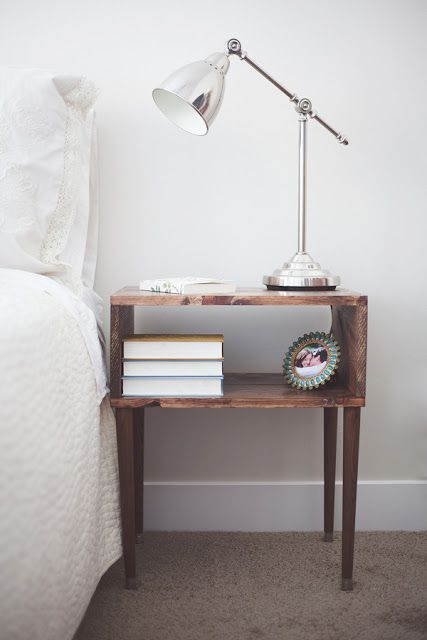 DIY Nightstand, I think I would like to modify this for a coffee table.