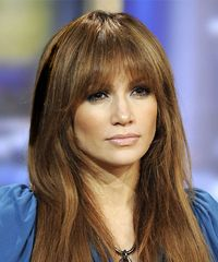 Jennifer Lopez Hairstyle: Casual Long Straight Hairstyle