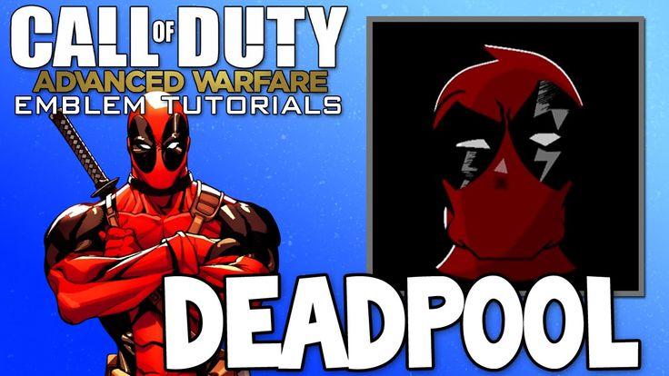 Epic DEADPOOL - COD Advanced Warfare Emblem Tutorial (Call Of Duty Playercards)