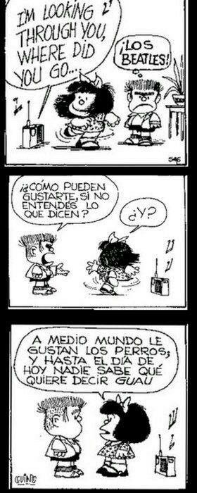 Mafalda Quino Los Beatles