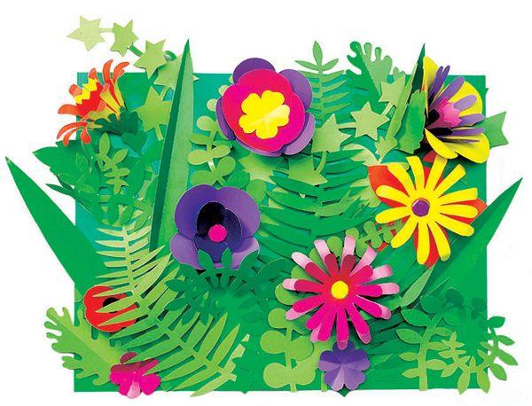 Botaniczne wycinanki liście i kwiaty to zestaw na wiele prac plastycznych. Sztancowane elementy trzeba delikatnie wypchnąć z arkuszy, co jest świetnym ćwiczeniem manualnym. Wtedy już tylko pozwolić działać wyobraźni i zawijać, zginać, składać i przyklejać.