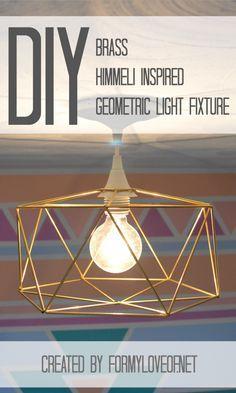Pin It! DIY Brass Himmeli Inspired Geometric Light Fixture