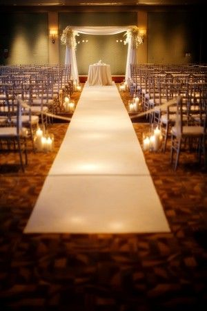 Wedding Arch Aisle Runner Ceremony Decor Candles Atlanta Al