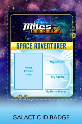 Galactic ID Badge | Miles from Tomorrowland Free Printables & crafts | SKGaleana