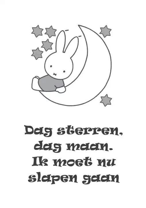 Nijntje - I said this every night to the moon and stars :) makes me feel young again to read it!!