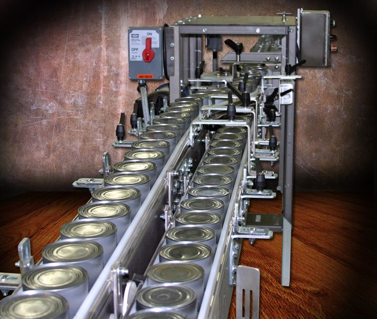 For use with two piece cans with a nesting bottom configuration, the Single Star Can Stacker from Arrowhead Conveyor quickly and reliably stacks one can on top of another.