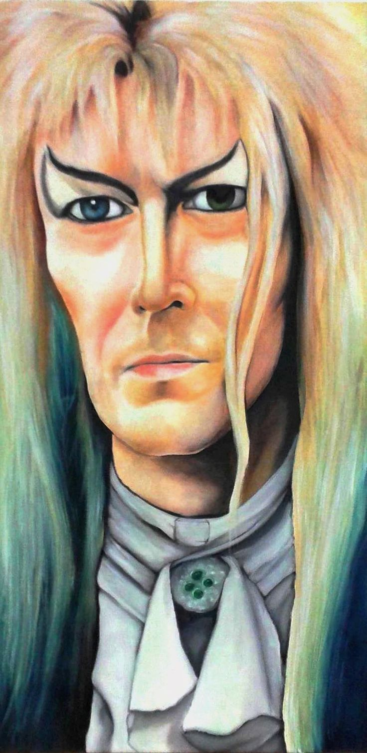 Oil on canvas painting of David Bowie as Jareth.