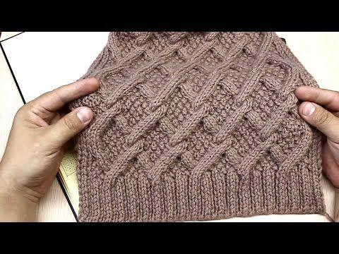 Вязание спицами. Узор из Ромбов для платья. - YouTube