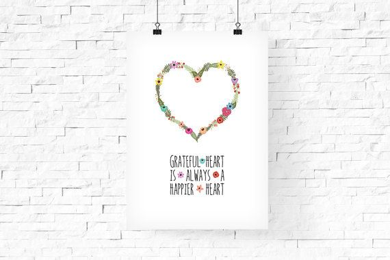 Floral Heart Girls Room Decor  INSTANT Download PDF by FPD3sign