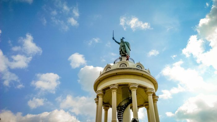 Hermann the German is another famous landmark. It celebrates German victory over the Romans at the Battle of Teutoburg Forest in the 9 CE.