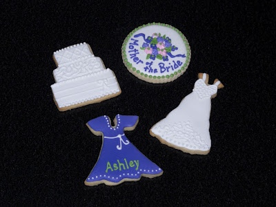 cookie favors used at a Bridesmaid's luncheon as table placecards