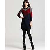 Burberry Brit Color Block Intarsia Sweater Dress