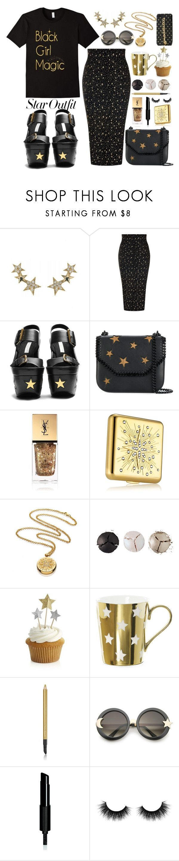 """""""Twinkle, Twinkle: Star Outfits"""" by queenvirgo ❤ liked on Polyvore featuring Talia Naomi, STELLA McCARTNEY, Yves Saint Laurent, Estée Lauder, Pat McGrath, Crate and Barrel, Miss Étoile, ZeroUV, Givenchy and Artémes"""