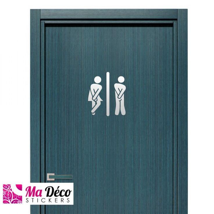 17 meilleures id es propos de stickers wc sur pinterest for Pochoir mural wc