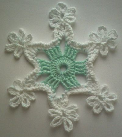 This patterns is from Barbara Christoper's book Elegant Christmas Ornaments to Crochet