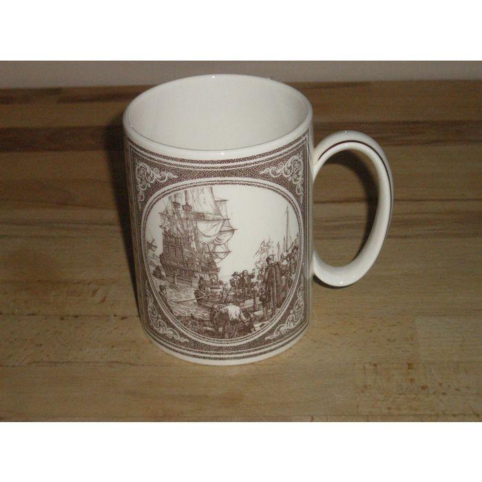 Wedgwood Of Etruria & Barlaston Pilgrim Fathers Mayflower Mug. Plymouth Interest Listing in the Tableware,Wedgwood,China & Porcelain,Porcelain, Pottery & Glass Category on eBid United Kingdom | 166509765